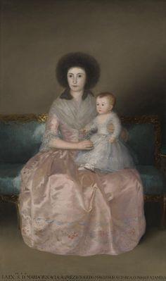 Francisco de Goya: Countess of Altamira with her daughter, 1787.
