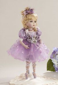 NIB Beautiful Ballerina Victorian Porcelain Delton Doll, Pink or Lilac Tutu Offered by on Bonanza Porcelain Doll Makeup, Porcelain Dolls Value, Fine Porcelain, Vintage Cat, Vintage Dolls, Yorkshire, Zombie Dolls, All Things Purple, Doll Face