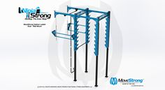 New Dual Sided Wall Mount Salmon Ladder Design Available - MoveStrong Trx Gym, Crossfit, Ninja Warrior Gym, Side Wall, How To Make Light, Steel Chain, Ladder, Wall Mount, Gym Design