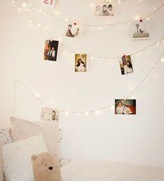 Guirnaldas de luces para colgar fotos con clips o pinzas
