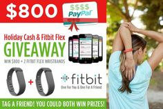 $800 Paypal cash + Fitbit giveaway!