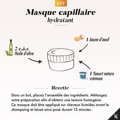 DIY: Hydrating hair mask- DIY : Masque capillaire hydratant You no longer have Hydrate Hair, Moisturize Hair, Beauty Care, Diy Beauty, Damaged Hair Repair Diy, Moisturizing Hair Mask, Natural Hair Men, Natural Beauty, Diy Masque