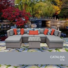 Catalina 7 Piece Outdoor Wicker Patio Furniture Set 07a #TKClassics