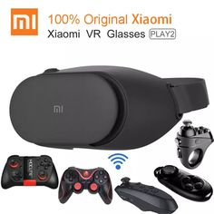 Original Xiaomi VR Play 2 Virtual Reality Glasses Immersive Glasses For Inch Smart Phones With Controller Augmented Virtual Reality, Virtual Reality Systems, Virtual Reality Glasses, Diffuse Reflection, Electronic Workbench, 3d Glasses, Technology World, Virtual World, Smartphone