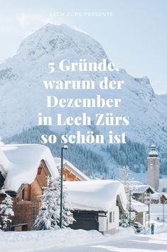 5 Reasons why December in Lech Zürs is so beautiful - Lech Zürs Bergen, Why Christmas, Far Away, Nice View, Advent, Mount Everest, Skiing, Europe, Ski Resorts