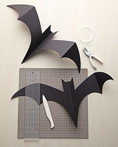hanging bats template via Martha Stewart