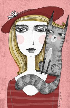 this reminds me of my girlfriend Cristina and her cat :)