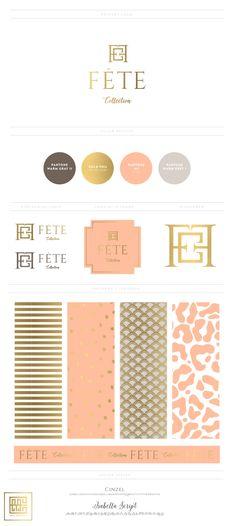 Emily McCarthy Branding | Fete Collection Branding Board | www.emilymccarthy.com #branding