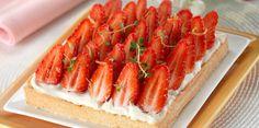 Tarte aux fraises à la crème mascarpone