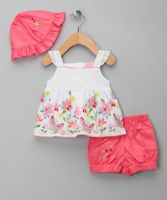 Coral Doby Top and Shorts & Hat – Infant & Toddler. Surfer chic is all the rage and that goes for small folk too. According to zulily this stylish outfit is ripe for sandcastling and ice-cream dribbling at the beach, albeit a tad too gorge-looking for such summertime antics! £7.99