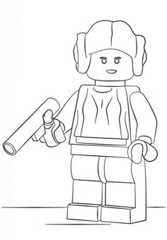 lego princess leia coloring page from lego star wars category select from 20946 printable crafts - Lego Princess Leia Coloring Pages