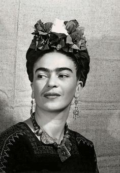 Frida Kahlo: Fashion as the Art of Being. Frida Kahlo With Flowers in Her Hair, portrait by Bernard Silberstein, c. 1940.