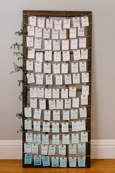Rustic Escort Card Display | Seaside Eisenhower House Newport Wedding In Rhode Island | Photograph by Eileen Meny Photography  See the full story at http://storyboardwedding.com/seaside-eisenhower-house-newport-wedding/