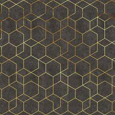 Geometric vinyl wallpaper RIZ By Adriani e Rossi edizioni