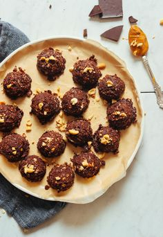 DECADENT Vegan Peanut Butter No Bake Cookies! 1 bowl, NO baking, 9 simple ingredients! #vegan #nobake #dessert #cookie #recipe #minimalistbaker