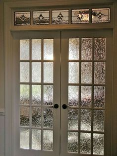 Door option & window privacy film - a great alternative to etching each panel on ...