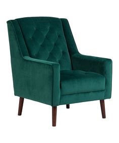 Take A Look At This Emerald Green Verlaine Velvet Tufted Accent Chair Today!
