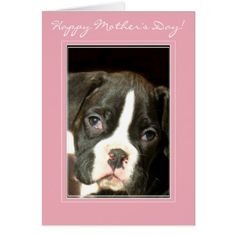 #Happy Mother's Day Brindle boxer puppy card - #boxer #puppy #boxers #dog #dogs #pet #pets #cute