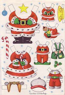 Bonecas de Papel: Fabrica de Brinquedos do Papai Noel