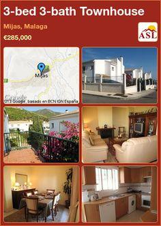 3-bed 3-bath Townhouse in Mijas, Malaga, Spain ►€285,000 #PropertyForSaleInSpain