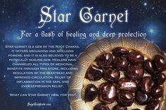 Star Garnet for a flash of healing and deep protection. This gemstone's…