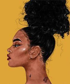 ) suas próprias imagens e vídeos no We Heart It Black Love Art, Black Girl Art, Black Is Beautiful, Black Art Painting, Black Artwork, African American Art, African Art, Black Art Pictures, Natural Hair Art