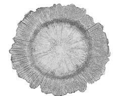 Glass Reef Charger Plates