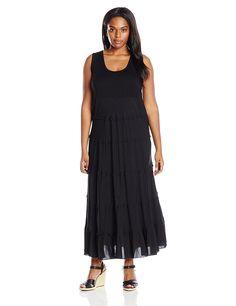 Karen Kane Women's Plus-Size Tiered Maxi Dress >>> Tried it! Love it! Click the image. : Plus size dresses