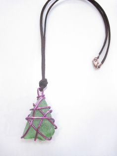 This is something I would make with my found natural sea glass and copper