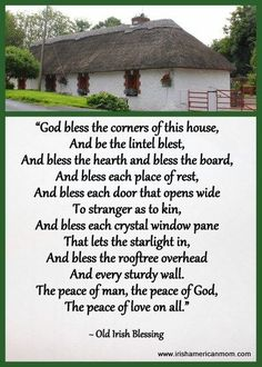God bless the corners of this house, Irish blessing. Have you had a DNA test? The site says three out of four people are part Irish? Irish Prayer, Irish Blessing, Immigration Quebec, Celtic Words, Irish Quotes, Irish Sayings, Irish American, Native American, American Symbols
