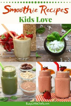 Easy step by step guide for healthy smoothies using fruit and veggies your picky eaters will love. Great for breakfast and after school snacks. Easy Cooking, Healthy Cooking, Healthy Snacks, Healthy Recipes, Fruit Snacks, Veggie Smoothies, Smoothie Recipes For Kids, Meals Kids Love, Breakfast For Kids