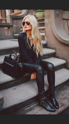 Leather skinny pants. I would wear these like tights under long tops/dresses.