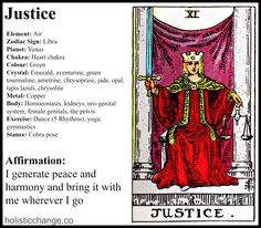 Journaling Holistic Change with the Tarot Justice Card - Holistic Correspondences for Justice