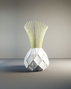 NO PAPER! RESIN Rombo vase pot planter home forniture made in italy design gifts love vaso come ceramica vaso per fiori