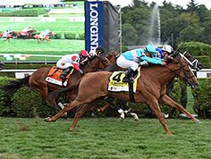 Dacita delivers grade I winner Tepin her second consecutive tough beat at Saratoga, at the wire. 8/29/15