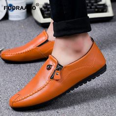 0e67da3fe18 Fashion 2018 Men Loafers Shoes Leather Mens Summer Shoes Flats Spring Male  Casual Shoes Slip On