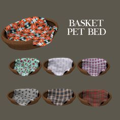 Lana CC Finds - Basket Pet Bed by Leosims