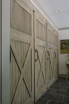 Barn doors to hide media