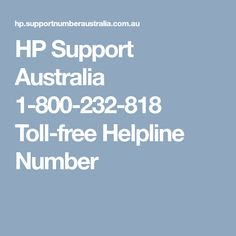 HP Technical Support Australia is providing complete solution for HP laptop & desktop glitches. If you are having any kind of problem regarding HP product then Call on HP Support Australia Number and get immediate aid by well-talented experts.