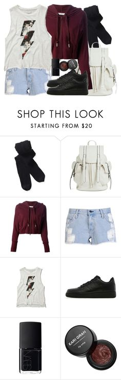 """""""Kira Inspired Outfit with Requested Shoes"""" by veterization ❤ liked on Polyvore featuring Aéropostale, Mossimo, adidas, Satine, Abercrombie & Fitch, NIKE, NARS Cosmetics and Kari Gran"""