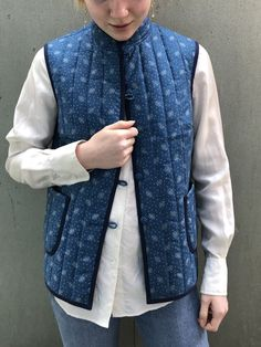 Sy din egen vest — marapytta Quilted Vest, Needle And Thread, Vest Jacket, Sweatshirt, Denim, Coat, Stitches, Inspiration, Fashion