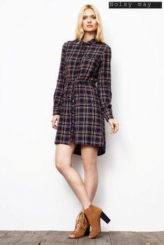 Kup dzisiaj online Sukienka koszulowa w kratę Noisy May w sklepie Next: Polska