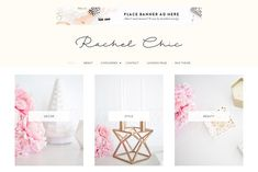 Rachel WordPress Theme by Bluchic on @creativemarket