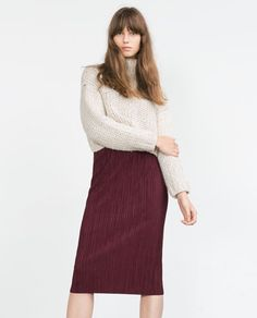 Image 2 of STRAIGHT PLEATED SKIRT from Zara