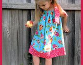 Custom Boutique On A Whim Owls Pillowcase Dress  --  3/6 months - 8 years