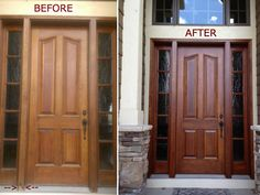 Front door fiasco resolved! Is it time to refinish your wood front door? Check & do it yourself as: DIY How to Refinish Front Door. Black front ... Pezcame.Com