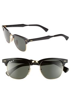 Ray-Ban Polarized 'Clubmaster' 49mm Sunglasses available at #Nordstrom