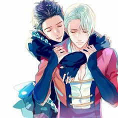 Yuri Katsuki & Viktor Nikiforov || Yuri!!! on ICE #YOI   Art by: wasureppoiseibu