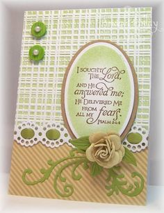 Nice inked emboss folder background. With a different sentiment or stamped image, this card could be beautiful.