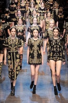 Dolce and Gabanna. Loving the sequins